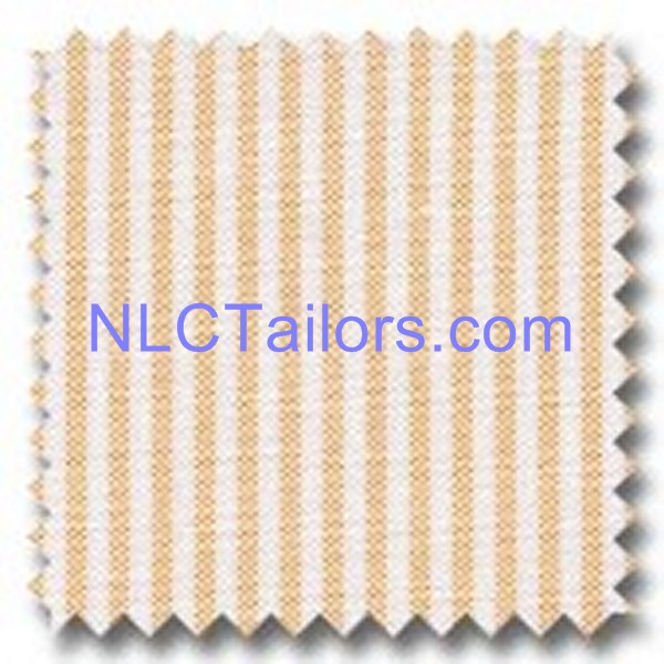 Orange Thin Stripes - Custom made Stripes shirts - New Look Collection Tailors, Pattaya
