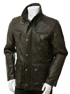 Made to Measure Leather Jacket For Men - thailand bespoke tailor