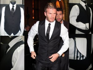 David beckham black vest - Made to Measure