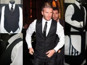 David beckham black vest - Made to Measure
