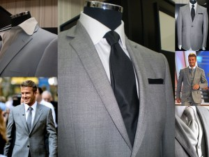 David Beckham Grey Suit - Made to Measure - New Look Collection Tailor - Inside Areca Lodge