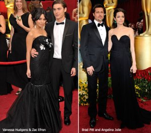 brad pitt and angelina jolie, vanessa hudgens and zac efron